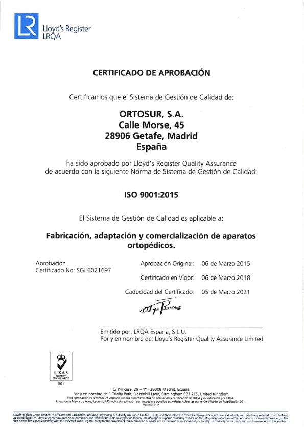 Certificado ISO Ortosur_001