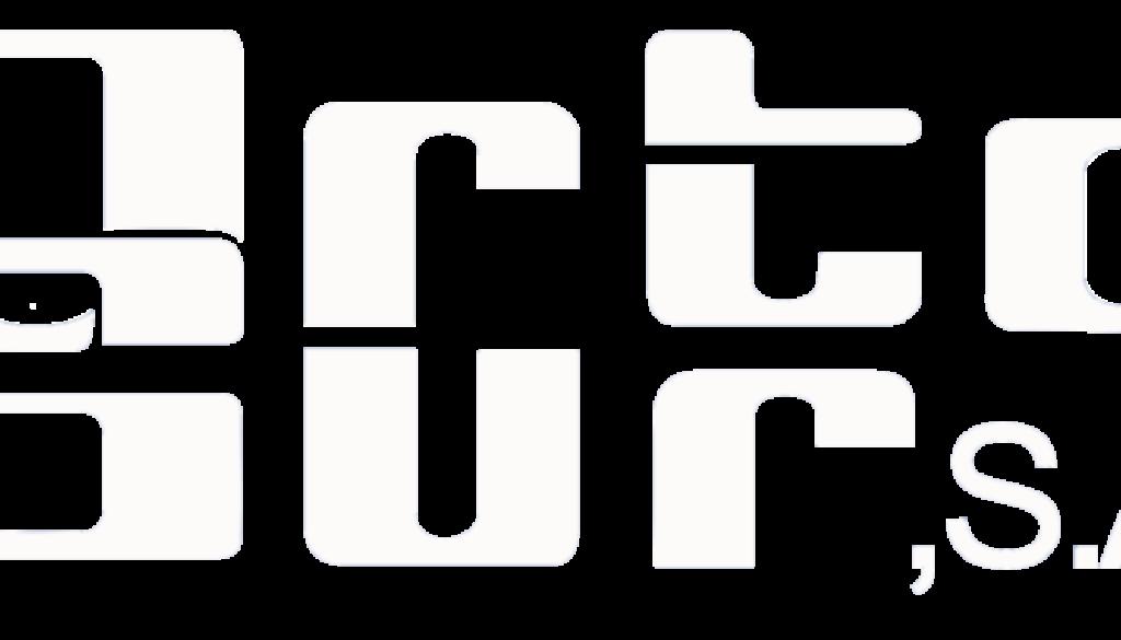 logo ortosur blanco
